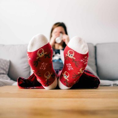 Warm feet in a warm house