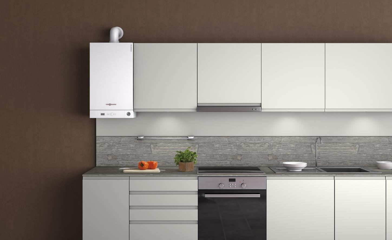 Viessmann boiler installed in a kitchen
